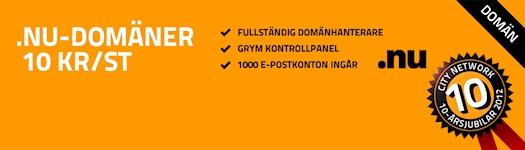 .NU domains for 10 SEK